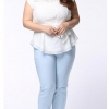 [พรีออเดอร์] เสื้้อชีฟองแฟชั่นเกาหลีใหม่ แขนสั้น สำหรับผู้หญิงไซส์ใหญ่ - [Preorder] New Korean Fashion Shirt Short-Sleeved for Large Size Woman