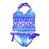 ชุดว่ายน้ำ สีฟ้า-ม่วง-ขาว ลายวงล้อ ยี่ห้อ Justice 10T