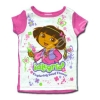 เสื้อ สีขาว-ชมพู ลาย Dora กับผีเสื้อ 2T
