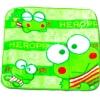 ผ้าเช็ดหน้า สีเขียว ลาย Heroppi