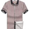 พรีออเดอร์ เสื้อเชิ้ตแฟชั่นอเมริกา และยุโรปสไตล์ สำหรับผู้ชาย แขนสั้น เก๋ เท่ห์ - Preorder Men American and European Hitz Style Slim Short-sleeved Shirt
