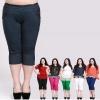 [พรีออเดอร์] กางเกงแฟชั่นเกาหลีไซส์ใหญ่ 60-130 กก.Brand 3QMiss ขา 3 ส่วน - [Preorder] Plus size 60-130 kg. Women ฺKorean Hitz Brand 3QMiss Colored Casual Pants