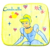 ผ้าเช็ดหน้า สีเหลือง ลาย Cinderella