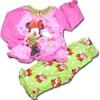 ชุดนอน สีชมพู-เขียว ลาย Minnie กับดาวหกแฉก 18M