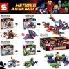 เลโก้จีน SY 234A-234D ชุด Heroes Assemble