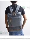 Back pack(กระเป๋าเป้ สะพายหลัง) BA032 สี เทา พร้อมส่ง