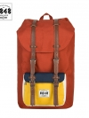 Back pack(กระเป๋าเป้ สะพายหลัง) BA027 สี ส้ม-เหลือง พร้อมส่ง