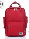Back pack(กระเป๋าเป้ สะพายหลัง) BA043 สี แดง พร้อมส่ง