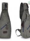 Cross Bags กระเป๋าคาด อก สะพายข้าง CR001 สี เทาอ่อน พร้อมส่ง