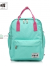 Back pack(กระเป๋าเป้ สะพายหลัง) BA043 สี มิ้นท์ พร้อมส่ง