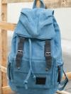 Back pack(กระเป๋าเป้ สะพายหลัง) BA001 สีฟ้า พร้อมส่ง