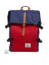 Back pack(กระเป๋าเป้ สะพายหลัง) BA056 สีน้ำเงิน จุด พร้อมส่ง