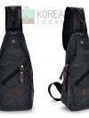 Cross Bags กระเป๋าคาด อก สะพายข้าง CR001 สี ดำ พร้อมส่ง