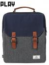 INPLAY Back pack(กระเป๋าเป้ สะพายหลัง) BA023 สีน้ำเงิน พร้อมส่ง