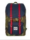 Back pack(กระเป๋าเป้ สะพายหลัง) BA027 สี ทหาร-สายแดง พร้อมส่ง