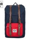 Back pack(กระเป๋าเป้ สะพายหลัง) BA027 สี น้ำเงิน-แดง พร้อมส่ง