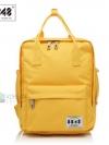 Back pack(กระเป๋าเป้ สะพายหลัง) BA043 สีเหลือง พร้อมส่ง