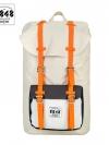 Back pack(กระเป๋าเป้ สะพายหลัง) BA027 สี ครีม-สายส้ม พร้อมส่ง