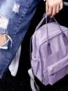 Back pack(กระเป๋าเป้ สะพายหลัง) BA043 สี ม่วงอ่อน พร้อมส่ง