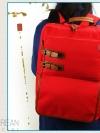 Back pack(กระเป๋าเป้ สะพายหลัง) BA028 สี แดง พร้อมส่ง