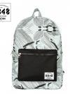 Back pack(กระเป๋าเป้ สะพายหลัง) BA042 สี ขาว พร้อมส่ง
