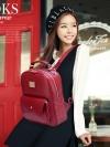 BEI BAO BAO Back pack ของแท้ (กระเป๋าเป้ สะพายหลัง) BA040 สีแดง พร้อมส่ง