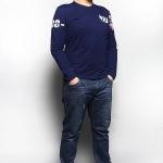 พรีออเดอร์ เสื้อยืด ไซต์ XL - 6XL แฟชั่นเกาหลีสำหรับผู้ชายไซต์ใหญ่ แขนยาว เก๋ เท่ห์ - Preorder Large Size Men Size XL - 6XL Korean Hitz Long-sleeved T-Shirt