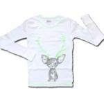 เสื้อ สีขาว-เขียว ลายลูกหมา 6T
