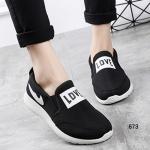 รองเท้าผ้าใบแฟชั่น ทรง slip on เสริมส้น LOVE สไตล์เกาหลี ใส่แล้วสวย เพรียวรับกับหน้าเท้า เสริมส้นกำลังดี น่ารักมากๆ สูงหน้า 1.5 ซม. ส้นสูง 3 ซม.