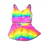 ชุดว่ายน้ำ สีชมพู-ส้ม-เหลือง-เขียว-ฟ้า ลายหัวใจ 9T