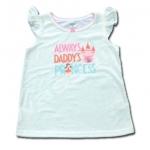 เสื้อ สีขาว ลาย Always Daddy's Princess ยี่ห้อ Carter's 5T