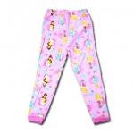 กางเกง สีชมพุ ลาย Princess กับดอกไม้ 5T