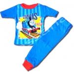 ชุดนอน สีฟ้า-น้ำเงิน ลาย Thomas กับรางรถไฟ 2T