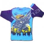 เสื้อ สีฟ้า-ดำ ลาย Batman The Dark Knight 8T
