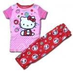 ชุดนอน สีชมพู ลาย Hello Kitty กับเค้ก 10T