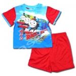 ชุดเด็ก สีฟ้า-แดง ลาย Thomas Race The Rails 3T