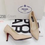 รองเท้าคัทชู หัวเเหลมหนังนิ่ม สไตล์ Prada ทรงสวย แพทเทรินเป๊ะใส่สบาย สูง 3 นิ้ว งานสวยมาก ใส่ได้ทุกโอกาส