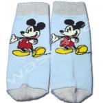 ถุงเท้า สีฟ้า-เทา ลาย Mickey Mouse 12CM