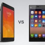 ความแตกต่าง ระหว่าง xiaomi Mi 3 vs Xiaomi Mi 4