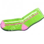 ถุงเท้า สีเขียว-ชมพู-แดง ลายทาง 14CM
