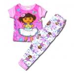 ชุดนอน สีชมพู ลาย Dora กับผีเสื้อ 3T
