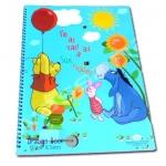 สมุดวาดเขียนสันห่วงใหญ่ สีฟ้า ลาย Pooh I'm as tall as a sun flower