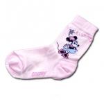 ถุงเท้า สีชมพู ลาย Minnie Mouse 18CM