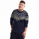 พรีออเดอร์ เสื้อยืด ไซส์ XL - 5XL แฟชั่นเกาหลีสำหรับผู้ชายไซส์ใหญ่ แขนยาว เก๋ เท่ห์ - Preorder Large Size Men Size XL - 5XL Korean Hitz Long-sleeved T-Shirt