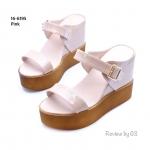 รองเท้าแฟชั่นสไตล์เกาหลี งานนำสุดเก๋ ส้นเตารีด คาดหน้าสองระดับด้วยหนัง แก้วแววสวย สายบนแต่งแบบสายเข็มขัดปรับให้กระชับได้ ทรงสวย งานสวยมาก ส้นเตารีดสูง 4 นิ้วเสริมหน้า 1.5 นิ้ว