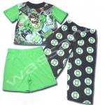ชุดเด็ก สีเขียว ลาย Green Lantern 8T