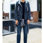 พรีออเดอร์ เสื้อกันหนาวพร้อมฮู้ด แฟชั่นอเมริกา และยุโรปสไตล์ สำหรับผู้ชาย แขนยาว เก๋ เท่ห์ - Preorder Men American and European Hitz Style Slim Long-sleeved Jacket with Hood