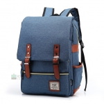 Back pack(กระเป๋าเป้ สะพายหลัง) BA045 สีฟ้า พร้อมส่ง