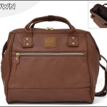 Large twoway Anello leather Shoulder Bag (สี Brown)