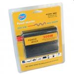 OEM Power Inverter ที่แปลงไฟรถเป็นไฟบ้าน เครื่องอินเวอร์เตอร์แปลงไฟ 12V DC เป็น 220V AC ขนาด 300W (สีดำ)